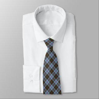 アンダーソンの一族のタータンチェックの淡いブルーの格子縞 オリジナルタイ