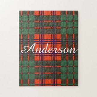 アンダーソンの一族の格子縞のスコットランド人のタータンチェック ジグソーパズル