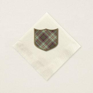 アンダーソンの一族の格子縞のスコットランド人のタータンチェック 縁ありカクテルナプキン