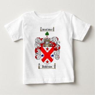 アンダーソンの家紋-アンダーソンの紋章付き外衣 ベビーTシャツ