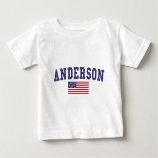 アンダーソン米国の旗 ベビーTシャツ
