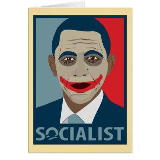 アンチオバマのジョーカーの社会主義者 カード