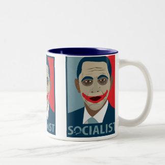 アンチオバマのジョーカーの社会主義者 ツートーンマグカップ
