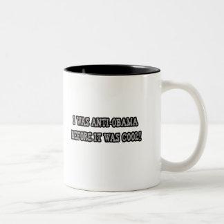 アンチオバマのユーモア ツートーンマグカップ