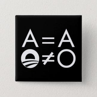 アンチオバマObjectivistボタン 5.1cm 正方形バッジ