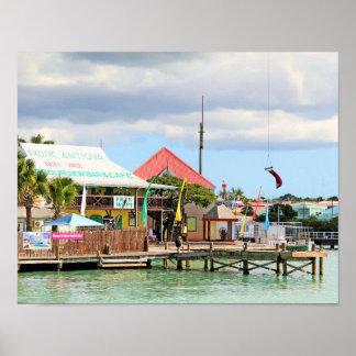 アンチグアのカリブの島 ポスター