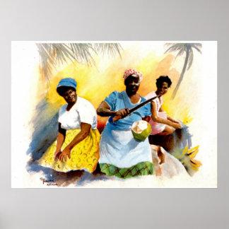 アンチグアのココナッツ販売人 ポスター