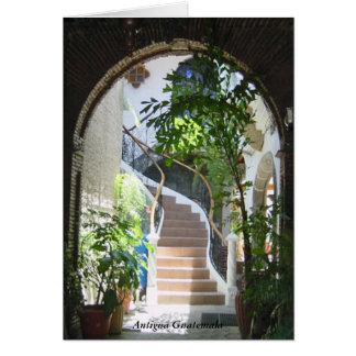 アンチグアグアテマラの階段への古いアーチ カード