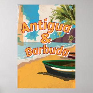 アンチグアバーブーダのヴィンテージの休暇ポスター ポスター