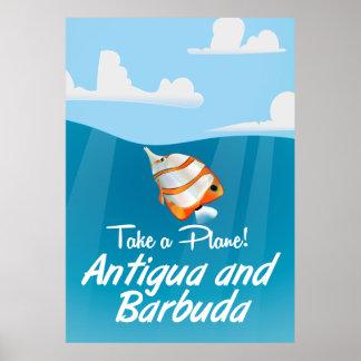 アンチグアバーブーダの休日旅行ポスター漫画 ポスター