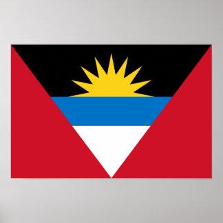 アンチグアバーブーダの愛国心が強い旗 ポスター