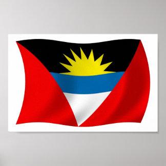 アンチグアバーブーダの旗ポスタープリント ポスター