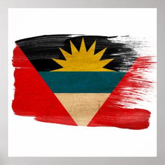 アンチグアバーブーダの旗ポスター ポスター