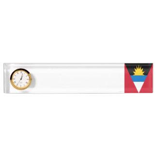 アンチグアバーブーダの旗 デスクネームプレート