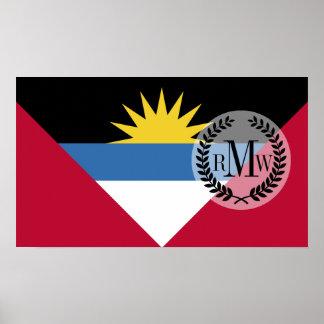 アンチグアバーブーダの旗 ポスター