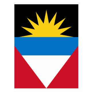 アンチグアバーブーダの旗 ポストカード