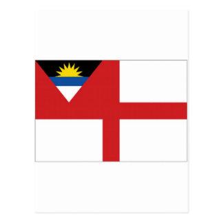 アンチグアバーブーダの沿岸警備隊の旗 ポストカード