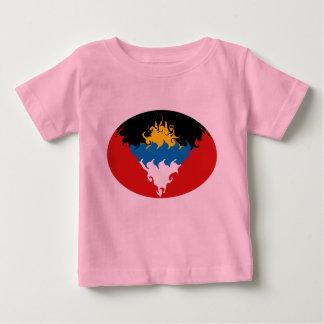 アンチグア及びバーブーダのすごい旗のTシャツ ベビーTシャツ