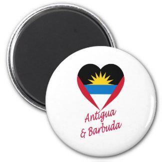 アンチグア及びバーブーダの旗のハート マグネット