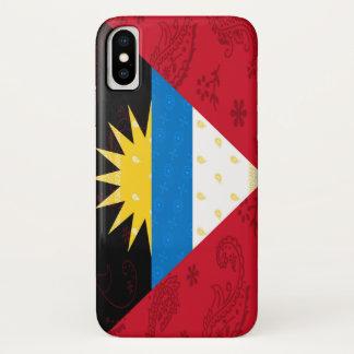 アンチグア及びバーブーダの旗の電話箱 iPhone X ケース