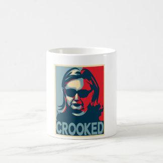 アンチヒラリー曲がったクリントンのマグ コーヒーマグカップ