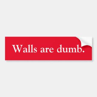 アンチ切札の壁は物の言えないバンパーステッカーです バンパーステッカー