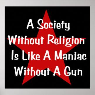 アンチ宗教の引用文 ポスター