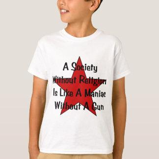 アンチ宗教の引用文 Tシャツ