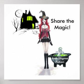 アンチ汚名の一服は、魔法を共有します! ポスター