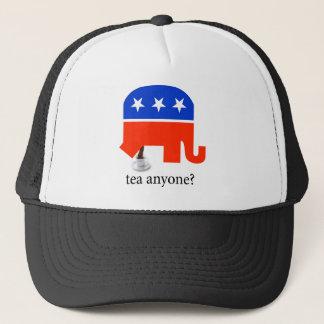 アンチ茶パーティー共和党象のウンチのTシャツ キャップ