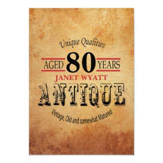アンティークの第80誕生日 カード