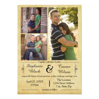 アンティークの紙3の写真-結婚式招待状 12.7 X 17.8 インビテーションカード