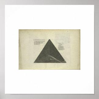 アンティークの1670年のピラミッドの写真 ポスター