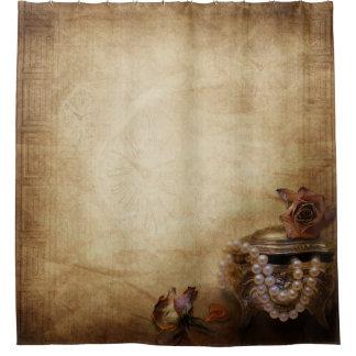 アンティークはシャワー・カーテンを真珠で飾ります シャワーカーテン