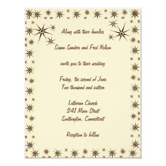 アンティークは結婚式招待状を主演します カード