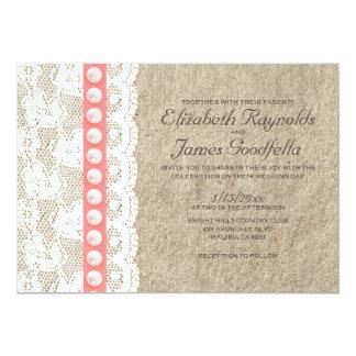 アンティークは結婚式招待状を真珠で飾ります 12.7 X 17.8 インビテーションカード