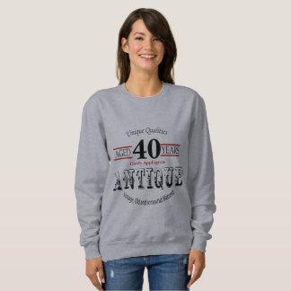 アンティーク、ヴィンテージの誕生日のデザイン|の第40誕生日 スウェットシャツ