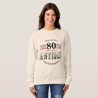 アンティーク、ヴィンテージの誕生日のデザイン|の第80誕生日 スウェットシャツ