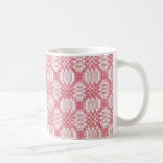 アンティークCoverletのデザインの織物のマグ コーヒーマグカップ