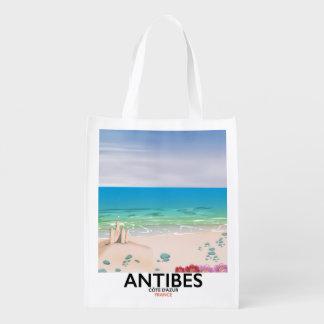 アンティーブフランスのビーチポスター エコバッグ