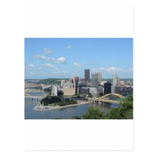 アンテナの都心のピッツバーグのスカイライン ポストカード