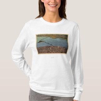 アンテナ、サンフランシスコオークランド湾橋 Tシャツ