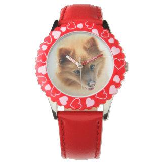 アンディーポメラニア犬犬 腕時計