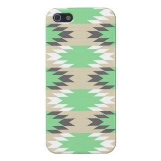 アンデスアステカな種族の緑の灰色のネイティブアメリカン iPhone 5 ケース
