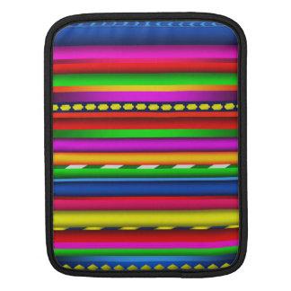 アンデスカラフルで多彩でアステカなマヤのパターン iPadスリーブ