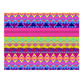 アンデスガーリーでかわいく粋なアズテック派のデザイン ポストカード