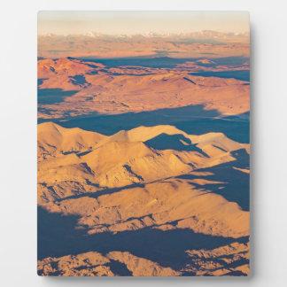 アンデス山の空気の景色場面 フォトプラーク