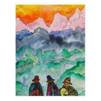 アンデス山脈の景色 ポストカード