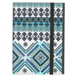 アンデス青くアステカな種族パターン iPad AIRケース