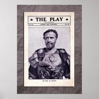 アントニーおよびCleopatraのプリント ポスター